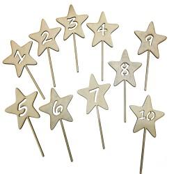 Cake topper con número en forma de estrella