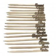 Lápices de madera personalizados con tu nombre