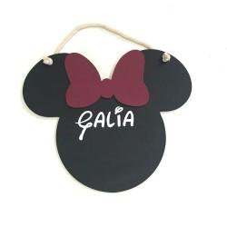 Pizarra de Mickey/Minnie personalizada