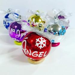 Bolas de navidad personalizadas Brillo