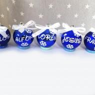 Bolas de navidad AZUL BRILLO