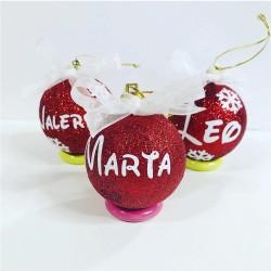 Bolas de navidad personalizadas Purpurina
