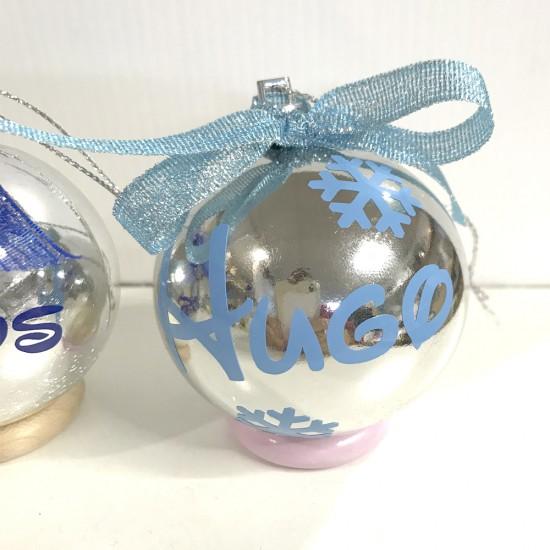 Bolas de navidad plata personalizadas en colores