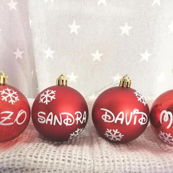 Bolas de Navidad con tu nombre