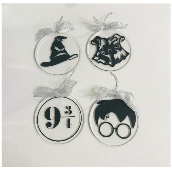 Pack de Bolas de metacrilato Navidad Harry Potter