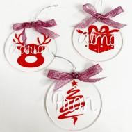Bolas de metacrilato Navidad personalizadas