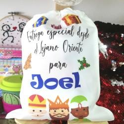 Bolsa para regalos personalizada Navidad Papa Noel/Reyes Magos