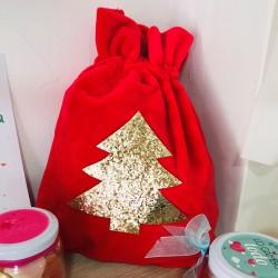 Bolsa saco de terciopelo Navidad