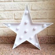Lámparas con luces led en forma de Estrella