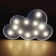 Lámparas con luces led en forma de Nube