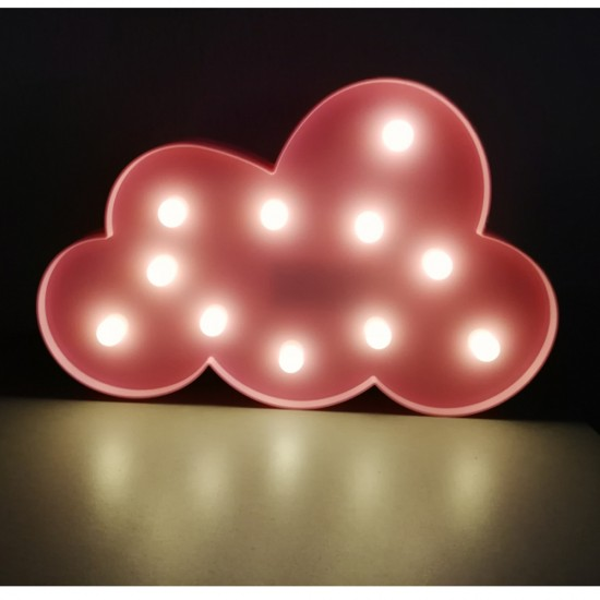 Lámparas con luces led en forma de Nube
