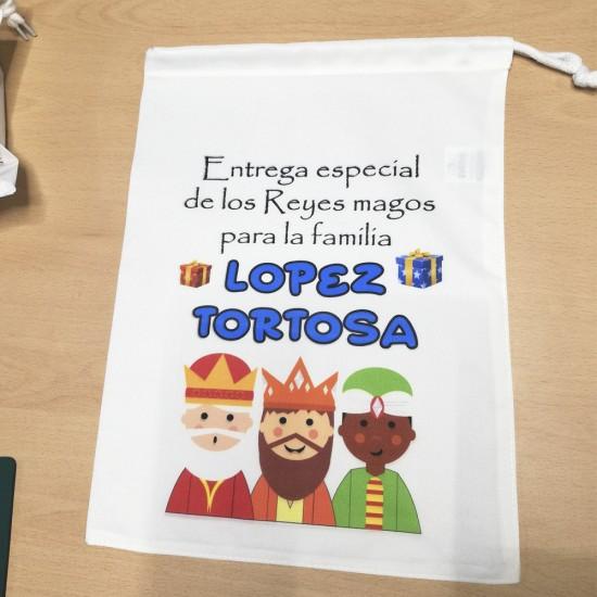 Saco para regalos de los Reyes magos