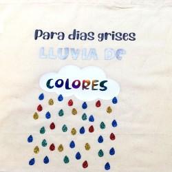 Bolsa Para días grises lluvia de colores