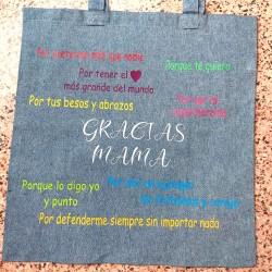 Bolsa con frases de mamás