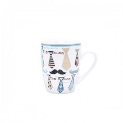 Taza para desayuno corbata y bigote