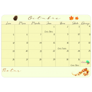 Calendario descargable Octubre