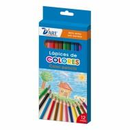Caja de 12 lápices de colores D'art