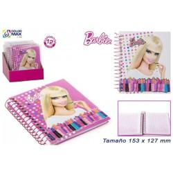 Libreta barbie 15x12