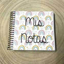 Libreta Mis notas Modelo Arco Iris de 10x10