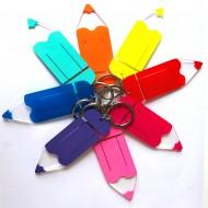Llaveros en forma de lápices