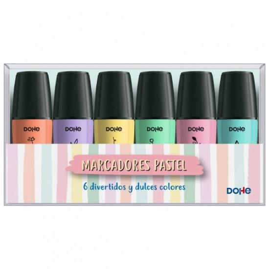 Pack de 6 mini marcadores tonos pastel