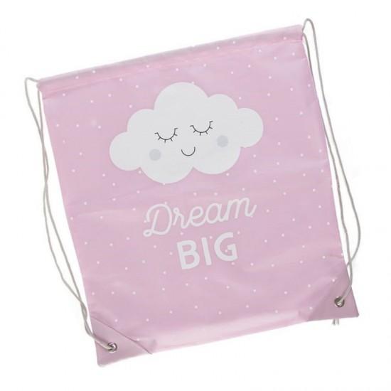 Bolsa saco con cuerdas Dream Big