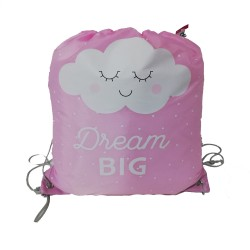 Bolsa saco con cuerdas Dream Big