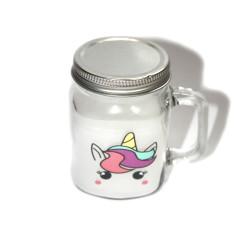 Vela unicornio en jarra