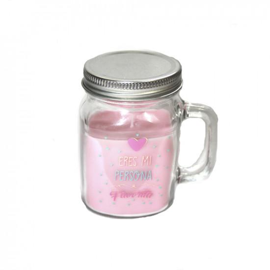 Vela aromática en forma de jarra